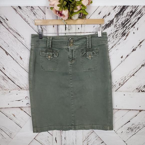 DKNY Cargo Jean Skirt sz 10